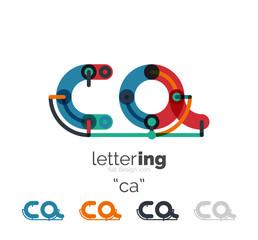 Letter logo line concept