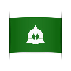 Flag of Katsuyama (Fukui Prefecture, Japan).