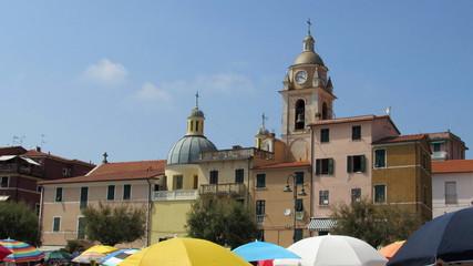 ombrelloni al mare - San Terenzio - Liguria