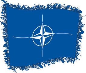 Flag of the North Atlantic Treaty Organisation. Vector illustrat