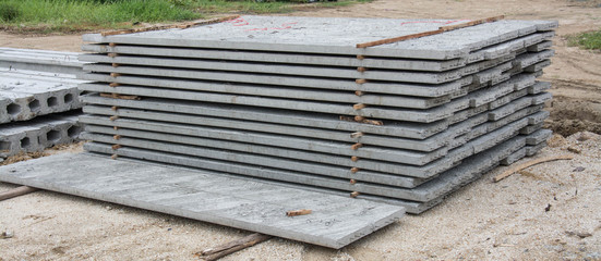 group of concrete panels at site