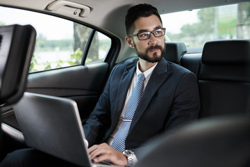 Working in car