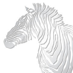 Animal illustration of vector zebra silhouette.