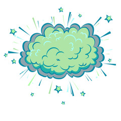 Boom cloud of Comic illustration, Pop Art style. Vector