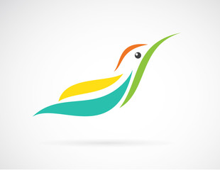 Vector image of an humming bird design on white background,  Vec