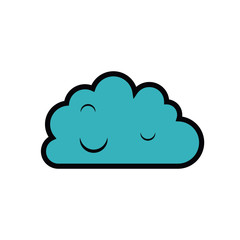 cloud computing isolated icon design
