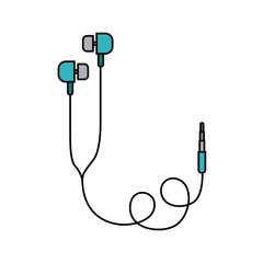 earphones  isolated icon design