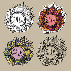 Set of Sale Nature vector Labels