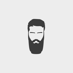 Hipster icon in a flat design in black color. Vector illustration eps10