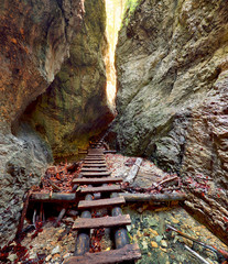 Obraz Canyon in Slovensky Raj, Slovakia - fototapety do salonu