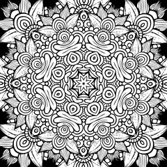 Circle decorative ornamental pattern