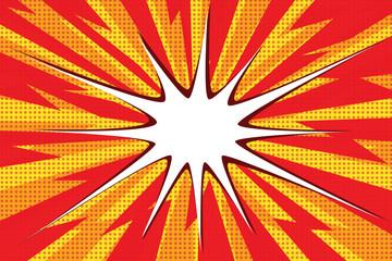 Comic book explosion bubble pop art