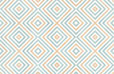 Geometrical pattern in blue and beige colors.