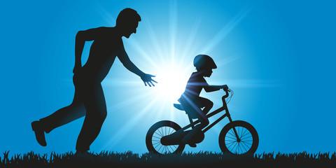 Enfant - vélo - Apprentissage