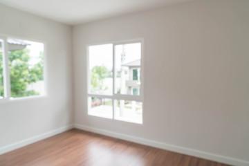 blurred empty door in living room interior background