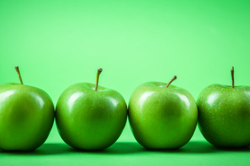 a number of green apples