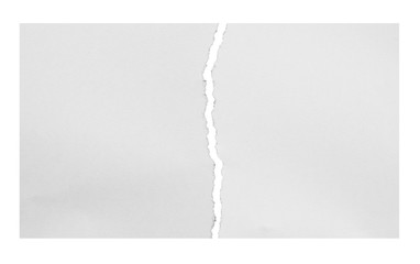 white torn paper isolated over white background