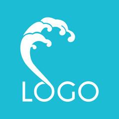 wave abstract vector logo design template