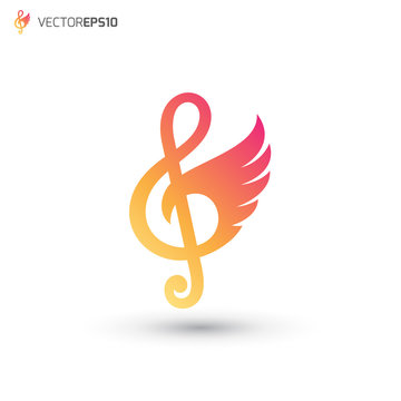 Music Note Wing Logo