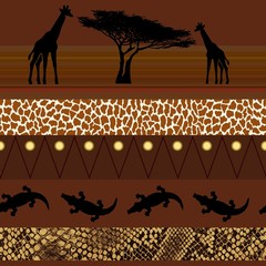 African style. Seamless pattern.
