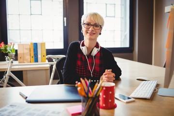 Portrait of female graphic designer