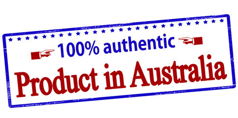 One hundred percent authentic product in Australia