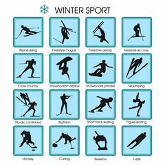 set of vector winter sport.