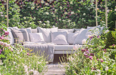 Romantic garden seating
