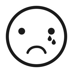 crying,face emoticon isolated icon design