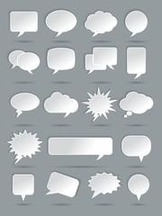 Paper Speech Bubble Icons