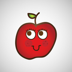 fruit nature healthy cartoon food