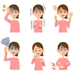 女性の病気の症状6種類