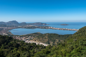 Wall Mural - Aerial view of Oceanica Region in Niteroi City, Brazil