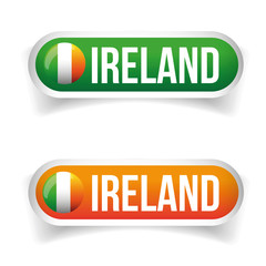 Ireland flag button vector