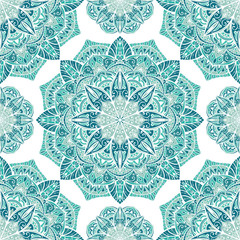 Icy turquoise pattern.