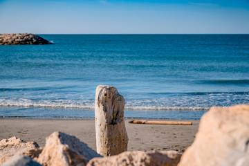 La plage des Saintes Maries-de-le-Mer