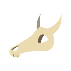 flat design bull or cow skull icon vector illustration