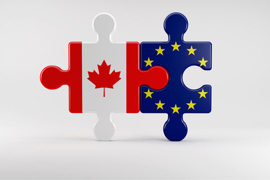 Puzzle pieces as Symbol for the Relationship between Canada and