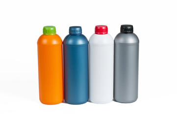 Plastic bottle for machine oil