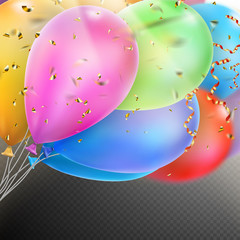 Colorful Balloons with confetti. EPS 10