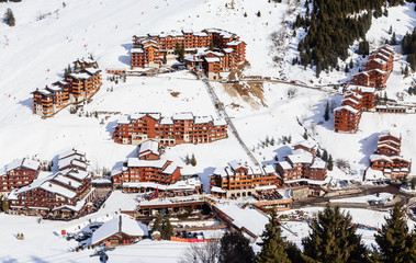 Meribel Ski Resort, Village of Meribel-Mottaret (1750 m). France