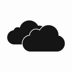Clouds icon in simple style isolated vector illustration
