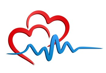 heart Logo with pulse.