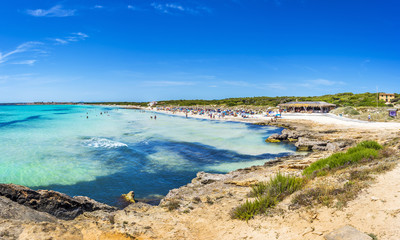 Playa Ses Covetes part of the long Es Trenc beach in Majorca