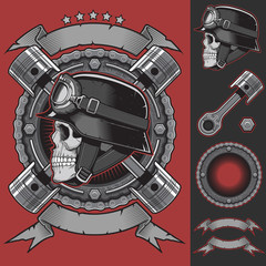 Biker Club Emblem Vector Stock