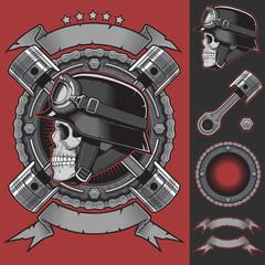 Biker Club Emblem Vector Stock