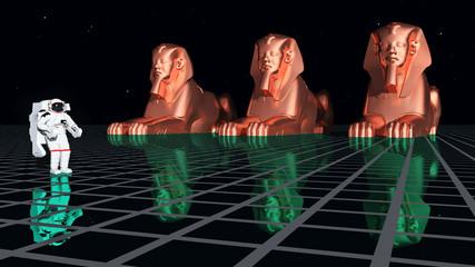 Die Evolution des Menschen - Astronaut und Sphinxe