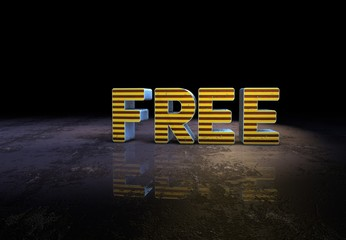 Free, Slogan, 3D Typography