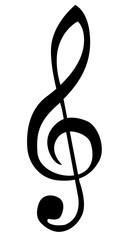 Violinschlüssel Schwarz