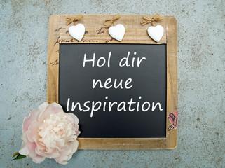 Hol dir neue Inspiration - Tafel mit Pfingstrose